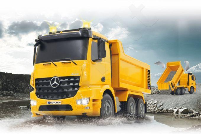 Radio bangomis valdomas Dump Truck  Mercedes-Benz Arocs 2,4 GHz
