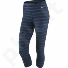 Sportinės kelnės Nike Legend Dri-FIT Cotton Tight Capri Zig Dot 3/4 W 725119-013