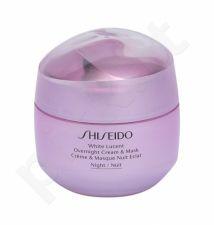 Shiseido White Lucent, Overnight Cream & Mask, naktinis kremas moterims, 75ml