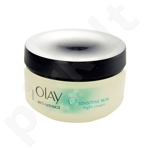 Olay Anti-Wrinkle Sensitive Skin naktinis kremas, kosmetika moterims, 50ml