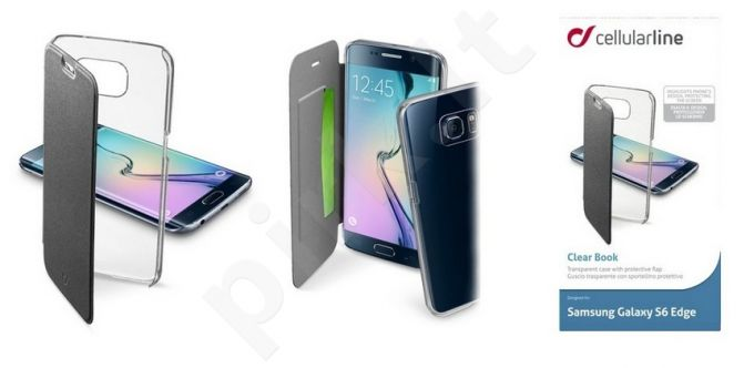 Samsung Galaxy S6 EDGE dėklas CLEARBOOK Cellular juodas