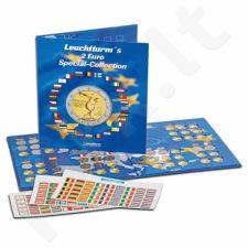 2 eurų vertės monetų kolekcionavimo albumas