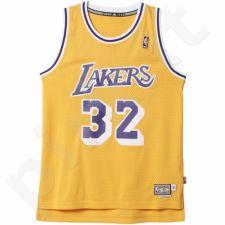 Marškinėliai krepšiniui Adidas Swingman Los Angeles Lakers Retired Magic Johnson M A46431
