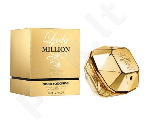 Paco Rabanne Lady Million Absolutely Gold, kvepalai moterims, 80 ml
