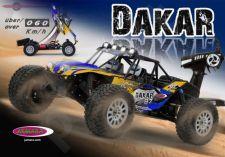Radio bangomis valdomas Dakar 1:10 BL Lipo Desert Buggy