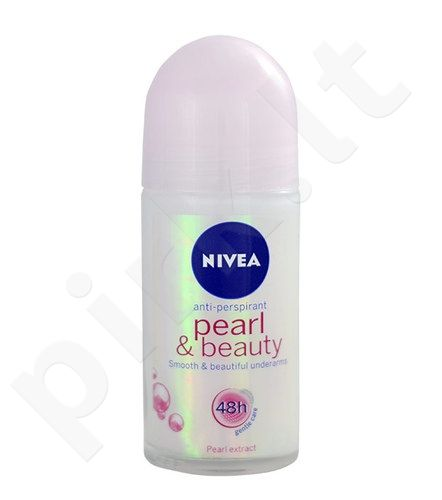Nivea Pearl & Beauty antiperspirantas Roll-on 48H, kosmetika moterims, 50ml