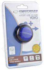 Šakotuvas Esperanza 4 jungtys EA135B USB2.0 YOYO