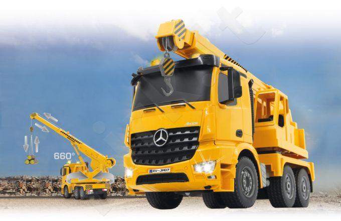 Radio bangomis valdomas Heavy duty crane  Mercedes-Benz Arocs 2,4 GHz