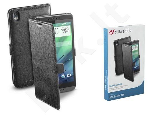 HTC Desire 816 dėklas BOOK ESSEN Cellular juodas