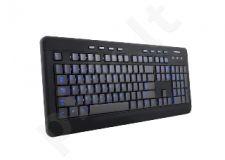 Multimedia klaviatūra MODECOM MC-9006 Pašvietimas Juoda