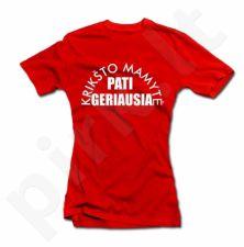 """Moteriški marškinėliai """"Geriausia krikštomamytė"""""""