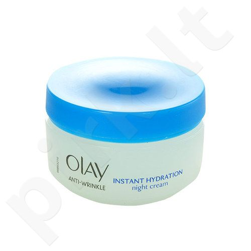 Olay Anti-Wrinkle Instant Hydration naktinis kremas, kosmetika moterims, 50ml