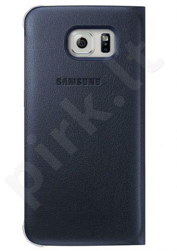 Samsung Galaxy S6 EDGE atverčiamas dėklas piniginė Odinis juodas