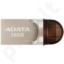 Atmintukas Adata USB-C, USB-A 3.1 Flash Drive UC370 16GB GOLDEN