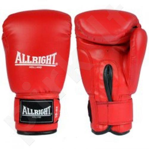 Bokso pirštinės Allright PVC raudonos