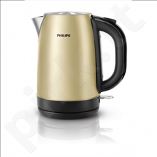 PHILIPS HD9324/50 Kettle Cordless, 1.7 L, 2200W, 360 Degree, Champagne metal
