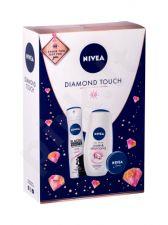 Nivea Care & Diamond, rinkinys dušo kremas moterims, (dušo kremas 250 ml + Antiperspirant Black & White Invisible Clear 150 ml + Universal kremas 30 ml)