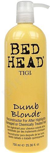 Regeneruojanti priemonė chemiškai pažeistiems plaukams Tigi Bed Head Dumb Blonde Reconstructor, 750ml (Galima naudoti kaip kaukę)