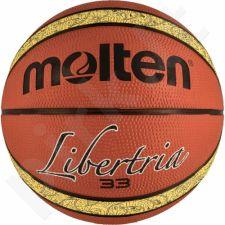 Krepšinio kamuolys Molten Libertria brązowo-geltona B7T2000-TI