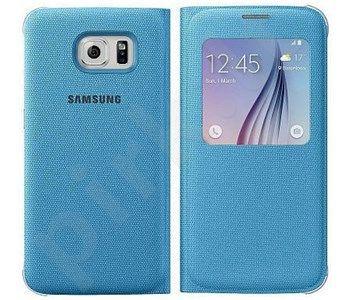 Samsung Galaxy S6 S View dėklas medžiaginis mėlynas