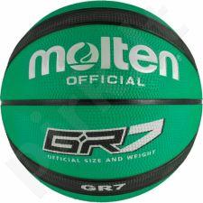 Krepšinio kamuolys Molten GR7 žalio atspalvio BGR7-GK