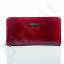 Ekskliuzyvinė raudona odinė lakuota piniginė moterims GA1