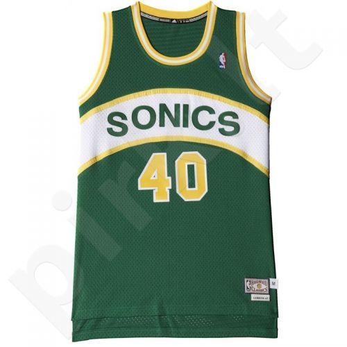 Marškinėliai krepšiniui Adidas Swingman Seattle SuperSonics Retired Shawn Kemp M A46586