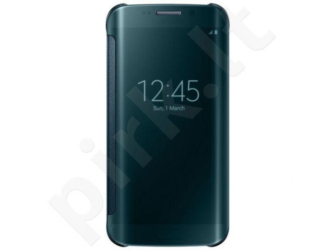 Samsung Galaxy S6 EDGE skaidrus atverčiamas dėklas mėlynas