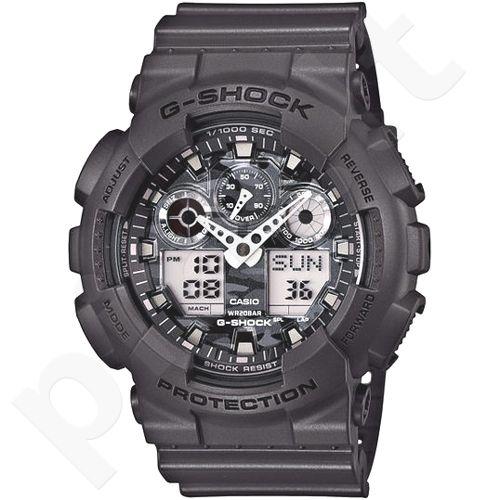 Casio G-Shock GA-100CF-8ADR vyriškas laikrodis-chronometras