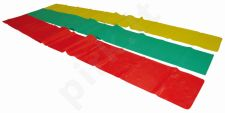 Juosta mankštai LATEX BAND (lengva) 120cm yellow