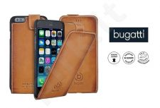 Apple iPhone 6/6S atverčiamas dėklas AMSTERD Bugatti v.cognac