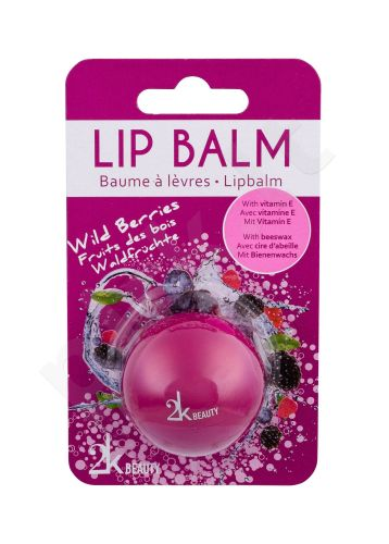 2K Beauty, lūpų balzamas moterims, 5g, (Wild Berries)