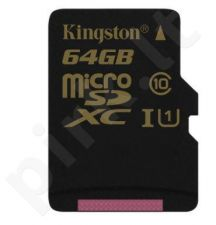 Atminties kortelė Kingston Micro SDXC 64GB UHS-I, 90/45MBs