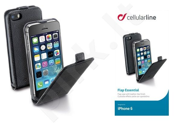 Apple iPhone 6/6S dėklas FLAP ESSEN Cellular juodas