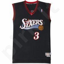 Marškinėliai krepšiniui Adidas Swingman Philadelphia 76ers Retired Allen Iverson M A46381
