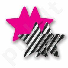 Nippies - Stars - žvaigždutės, lipdukai krūtims, Spalvoti