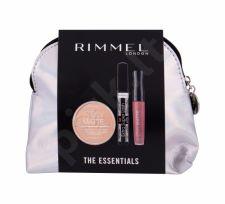 Rimmel London Extra Super Lash, rinkinys blakstienų tušas moterims, (blakstienų tušas Extra Super Lash 8 ml + kompaktinė pudra Stay Matte 14 g 001 Transparent + lūpdažis Stay Matte 5,5 ml 110 skaistalai + kosmetika krepšys), (Black)