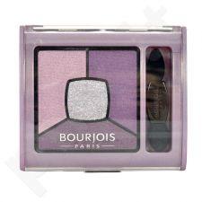 BOURJOIS Paris Smoky Stories, Quad Eyeshadow Palette, akių šešėliai moterims, 3,2g, (01 Grey & Night)