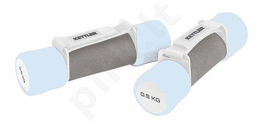 Hanteliai aerob. 2x0,5kg blue/grey