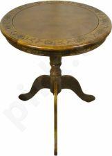 Apskritas ąžuolinis stalas 74x60x60cm