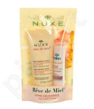 Nuxe Reve de Miel rankų ir nagų kremas rinkinys moterims, (30ml Reve de Miel rankų ir nagų kremas + 4 g Reve de Miel Lip moisturizing Stick)