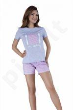 Babella pižama su šortukais rožinės spalvos 3011 (limituota versija)