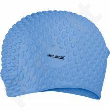 Maudymosi kepuraitė  Aqua-Speed silikonowy Bubble 01 mėlynas