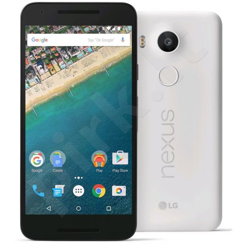 Telefonas LG Nexus 5X 32GB H791.A3BAWH baltas Quartz