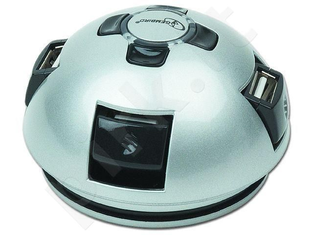Gembird semi-sphere USB 2.0 4-port HUB with rotating ports and a built-in cable