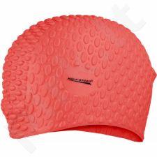 Maudymosi kepuraitė  Aqua-Speed silikonowy Bubble 31 raudonas