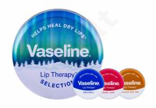 Vaseline Lip Therapy, rinkinys lūpų balzamas moterims, (lūpų balzamas 20 g + lūpų balzamas 20 Rosy Lips + lūpų balzamas 20 g Original + Tin Box), (Cocoa Butter)