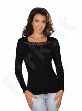 Babell medvilniniai marškinėliai LINDA (juodos spalvos)