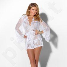 Seksualus kimono su kelnaitėmis - Baltas S/M