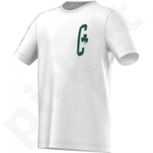 Marškinėliai Adidas Boston Celtics Y Fan Wear Tee Junior AA7798